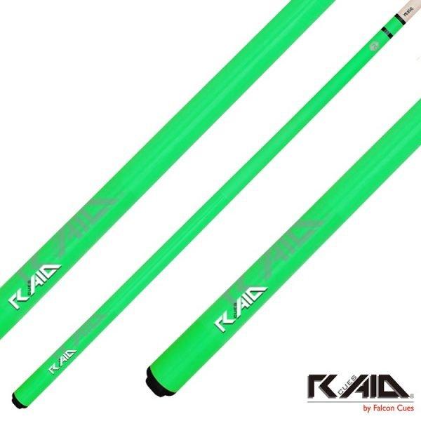 raid colourz S pool cues green