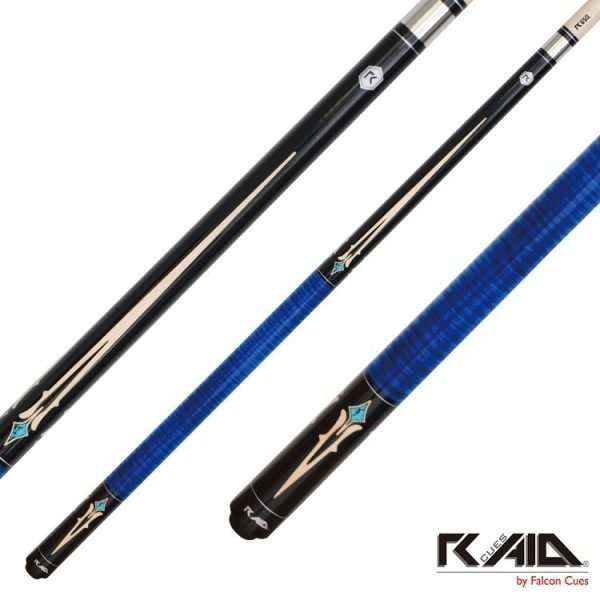 raid spears pool cues blue