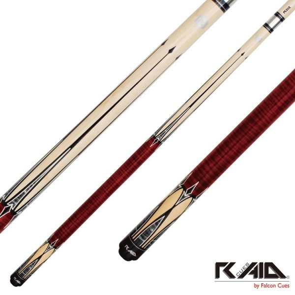 raid spears pool cues red