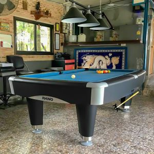black 3 lamp pool table light